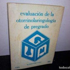 Libros de segunda mano: 26- EVALUACIÓN DE LA OTORRINOLARINGOLOGÍA DE PREGRADO - MARIO FLORES SALINAS. Lote 269229858