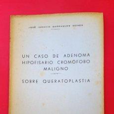 Libros de segunda mano: DOCTOR BARRAQUER - 1943 - SOBRE QUERATOPLASTIA. Lote 270571223