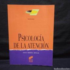 Libros de segunda mano: PSICOLOGÍA DE LA ATENCIÓN - JULIA GARCÍA SEVILLA - SÍNTESIS 2007. Lote 278880463