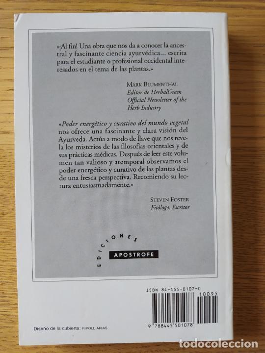 Libros de segunda mano: Poder energético y curativo del mundo vegetal, Libro de Vasant. Ed. Apostrofe, 1995 Raro - Foto 2 - 278938678