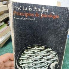 Libros de segunda mano: JOSÉ LUIS PINILLOS. PRINCIPIOS DE PSICOLOGIA. Lote 285569708