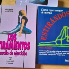 Libros de segunda mano: LOTE DE LIBROS DE ESTIRAMIENTOS, MICHEL ALTER Y BOB ANDERSON, ED. INTEGRAL Y PAIDOTRIBO. Lote 287256598