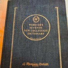 Libros de segunda mano: WEBSTER´S SEVENTH NEW COLLEGIATE DICTIONARY. Lote 287390638