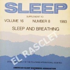 Libros de segunda mano: SLEEP - VOLUMEN 16 - NUMBER 8 -1993 - SUPLEMENT. Lote 287768438