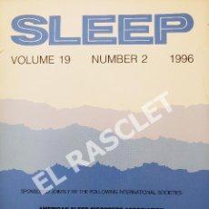 Libros de segunda mano: SLEEP - VOLUMEN 19 - NUMBER 2 -1996 -. Lote 287768583