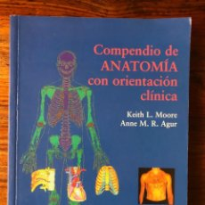 Libros de segunda mano: COMPENDIO DE ANATOMÍA CON ORIENTACIÓNCLÍNI A. KEITH L. MOORE - ANNE M.R. AGUR. MASSON. Lote 288580788
