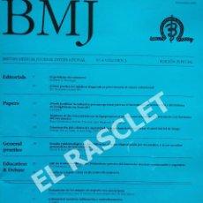 Libros de segunda mano: ANTIGÜA REVISTA BMJ Nº 4 - VOL..3 EDICION ESPECIAL. Lote 295721278