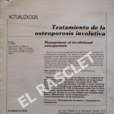 Libros de segunda mano: ACTUALIZACION DEL TRATAMIENTO DE OSTEOPOROSIS INVOLUNTARIA. Lote 295722793