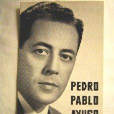 Libros de segunda mano: PEDRO PABLO AYUSO, DE RADIO MADRID, EDITADA POR R.C.A. VICTOR AL PRINCIPIO DE LOS 60.. Lote 27129144