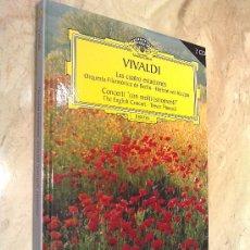 Libros de segunda mano: LIBRO SOBRE VIVALDI, SU HISTORIA Y SU MÚSICA, CON 2 CD INCLUIDOS, PESO 400 GR. TAMAÑO 20 X 17 CM.. Lote 26313535