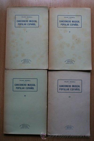 CANCIONERO MUSICAL POPULAR ESPAÑOL. PEDRELL (FELIPE) (Libros de Segunda Mano - Bellas artes, ocio y coleccionismo - Música)