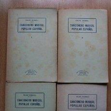 Libros de segunda mano: CANCIONERO MUSICAL POPULAR ESPAÑOL. PEDRELL (FELIPE). Lote 22704022