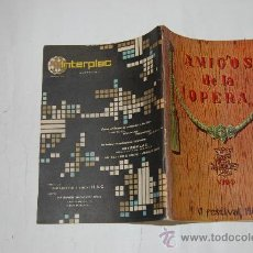 Libros de segunda mano: AMIGOS DE LA ÓPERA. VIGO. VI FESTIVAL 1963. RM54063. Lote 28662997