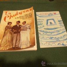 Libros de segunda mano: LA CHULAPONA , TEATRO LIRICO NACIONAL LA ZARZUELA. Lote 30366701