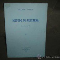 Libros de segunda mano: METODO DE GUITARRA. SEGUNDO PASTOR. PRIMERA PARTE. AÑO 1978. SIN USO. Lote 148951738