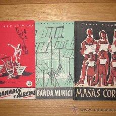 Libros de segunda mano: TRES REVISTAS MÚSICA.TEMAS ESPAÑOLES. FALLA GRANADOS ALBENIZ/ LA BANDA MUNICIPAL/ MASAS CORALES. Lote 35212818
