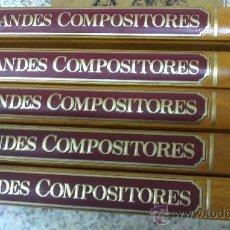 Libros de segunda mano: LOS GRANDES COMPOSITORES 5 TOMOS, COMPLETA ED. SALVAT S.A. 1985 . Lote 35386190