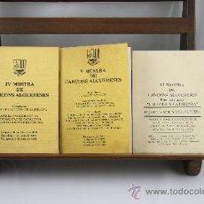 Libros de segunda mano: 3532- MOSTRA DE CANÇONS ALGUERRESES. VV.AA. IMP. EL TINTER. 1983/1985. 3 VOL.. Lote 38260162