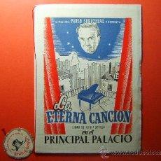 Libros de segunda mano: LA ETERNA CANCION-ZARZUELA SAINETE LIRICO-LUIS F.SEVILLA-9 DEDICATORIAS ENRIQUE TORT-¡¡UNICO!!-1945.. Lote 34911077