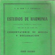 Libros de segunda mano: 1 LIBRO MUSICA - AÑOS 80 - ESTUDIOS DE HARMONIA ( CONSERVATORIO DE MUSICA Y DECLAMACION 2º CURSO ). Lote 178856910