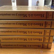 Libros de segunda mano - historia de la musica y sus compositores - euroliber - 5 tomos completa - 40637958