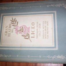 Libros de segunda mano: GRAN TEATRO DEL LICEO - TEMPORADA 1945-1946 - MADAMA BUTTERFLY. Lote 40854826