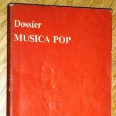 Libros de segunda mano: DOSSIER DE MÚSICA POP DE ED. ANAGRAMA EN BARCELONA 1973. Lote 42448088