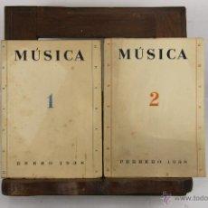 Libros de segunda mano: 5598- MUSICA REVISTA MENSUAL. EDIT. CONSEJO CENTRAL DE LA MUSICA. VV.AA. 1938. 4 NUMEROS. . Lote 46088885