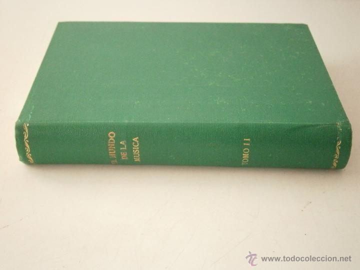 Libros de segunda mano: El mundo de la musica tomo II RAREZA - Foto 2 - 46613673