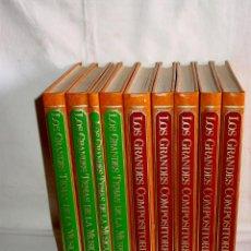 Libros de segunda mano: LOS GRANDES COMPOSITORES Y TEMAS DE LA MÚSICA. 1981-1983. ENCICLOPEDIAS SALVAT-9 VOLUMENES-2780 PAGS. Lote 46620979