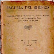 Libros de segunda mano: ESCUELA DEL SOLFEO, LIBRO II, MUSICAL EMPORIUM (CAVE 193). Lote 46923248
