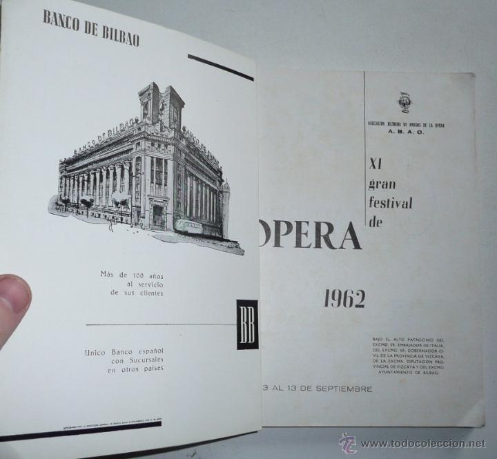Libros de segunda mano: XI GRAN FESTIVAL ABAO 1962 - MADAMA BUTTERFLY, PUCCINI - ASOCIACIÓN BILBAÍNA DE AMIGOS DE LA ÓPERA - Foto 2 - 47855167