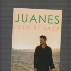 Libros de segunda mano: JUANES, LOCO DE AMOR. LIBRO + CD. Lote 52154557