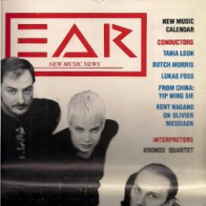 Libros de segunda mano: EAR. NEW MUSIC NEWS.Nº 9. DECEMBER-JANUARY 1989.. Lote 52279205