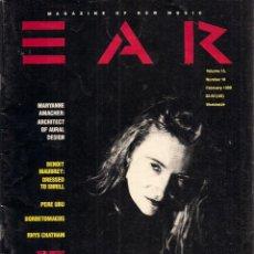 Libros de segunda mano: EAR. MAGAZINE OF NEW MUSIC. Nº 10. FEBRUARY 1989.. Lote 52279224
