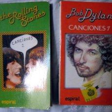 Libros de segunda mano: LIBROS DE CANCIONES DE THE ROLLING STONES Y BOB DYLAN. Lote 52927961