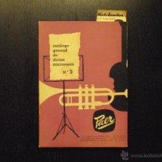 Libros de segunda mano: CATALOGO GENERAL DE DISCOS MICROSURCO Nº 5, PAER. Lote 52964411