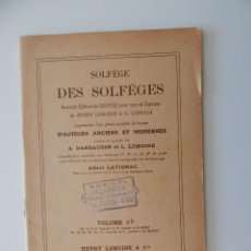 Libros de segunda mano: SOLFÈGE DES SOLFÈGES. VOLUME 5 B - FRANCÉS. Lote 54180215