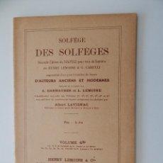 Libros de segunda mano: SOLFÈGE DES SOLFÈGES. VOLUME 4D - 1964 - FRANCÉS. Lote 54180421