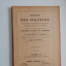 Libros de segunda mano: SOLFÈGE DES SOLFÈGES. VOLUME 4 D - 1958 - FRANCÉS. Lote 54200453