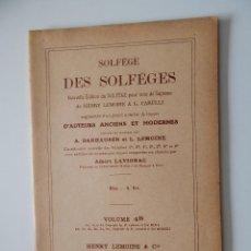 Libros de segunda mano: SOLFÈGE DES SOLFÈGES. VOLUME 4 D - 1964 - FRANCÉS. Lote 54200749