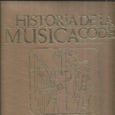 Libros de segunda mano: HISTORIA DE LA MÚSICA. TOMO II. EDITORIAL CODEX. MADRID. 1965. Lote 55309754