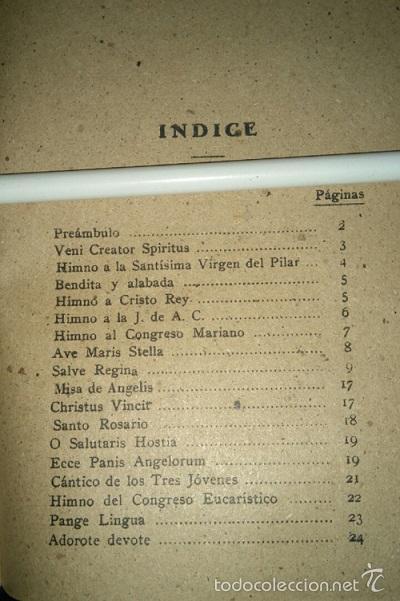 Libros de segunda mano: CANTORAL PARA LA PEREGRINACION AL PILAR DE ZARAGOZA 1940 - Foto 2 - 56524518