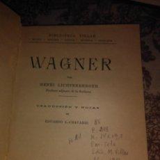 Libros de segunda mano: WAGNER. Lote 57648179