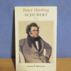 Libros de segunda mano: SCHUBERT -PETER HÄRTLING- DOCE MOMENTS MUSUCAUX Y UNA NOVELA (M.J. BUXÓ) AÑO 1997. Lote 103985643