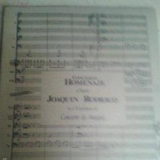 Libros de segunda mano - LIBROS ARTE MUSICA - CONCIERTO HOMENAJE A MAESTRO JOAQUIN RODRIGO EN EL 5O ANIVERSARIO DEL CONCIERTO - 58412977