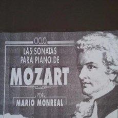 Libros de segunda mano: LAS SONATAS PARA PIANO DE MOZART POR MARIO MONREAL. CENTENARI TENOR CORTIS 1891-1991.. Lote 110805652