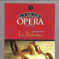 Libros de segunda mano: LA MEJOR OPERA EN DVD 1. LA BOHEME. GIOCOMO PUCCINI. EDICIONES DEL PRADO. LIBRETO DE 32 PAGINAS. Lote 61453367