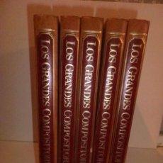 Libros de segunda mano: ENCICLOPEDIA SALVAT DE LOS GRANDES COMPOSITORES [5 TOMOS]. 1983. ILUSTRADO.. Lote 64170587