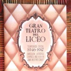 Libros de segunda mano: PROGRAMA ÓPERA MADAMA BUTTERFLY PUCCINI CENTENARIO GRAN TEATRO DEL LICEO 1947 IMPECABLE V FOTOS. Lote 64473731